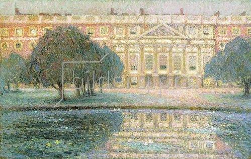 Henri Le Sidaner: Der Palast an einem Sommermorgen (Hampton Court). 1908