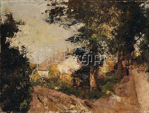 Lesser Ury: Die Ortschaft. 1885-90