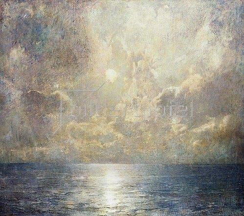 Soren Emil Carlsen: Mondhelles Seestück. 1909