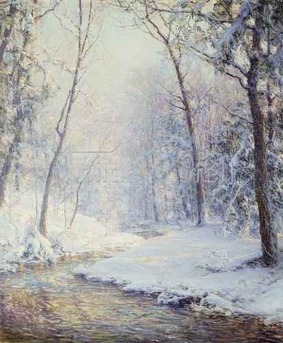 Walter Launt Palmer: Früher Schnee.