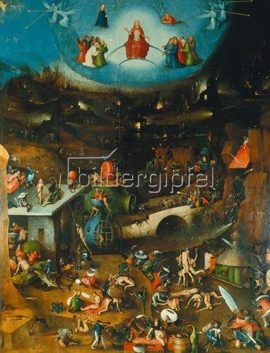 Hieronymus Bosch: Weltgerichts -Triptychon. Mitteltafel.