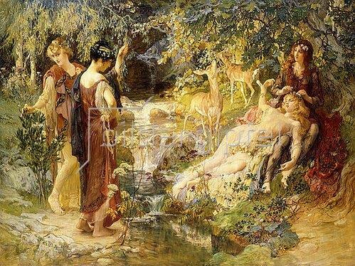 Frederick Arthur Bridgman: Ein geheimnisvoller Wald (Un Bois Secret). 1900