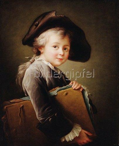 François-Hubert Drouais: Ein Junge mit einer Zeichenmappe. 1760