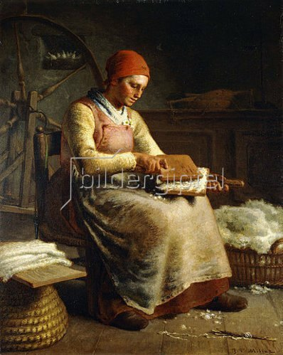 Jean-François Millet: Frau beim Kardieren der Wolle (La Cardeuse).