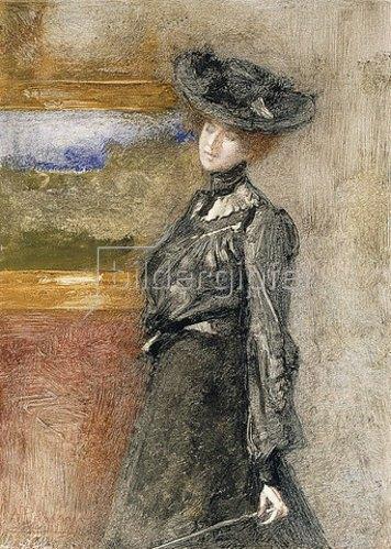 Pompeo Mariani: In der Gemäldegalerie (Nella Galleria).