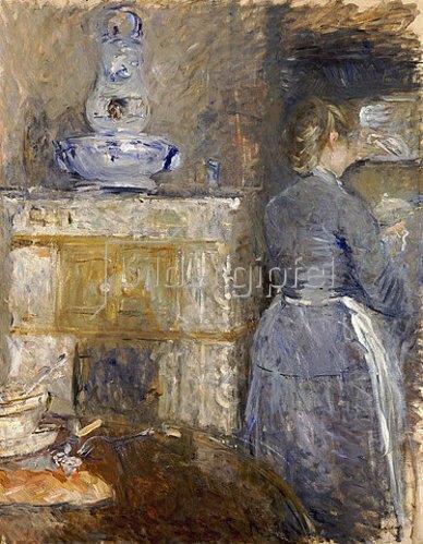 Berthe Morisot: Das Esszimmer der Famille Rouart, Avenue d'Eylau. 1880