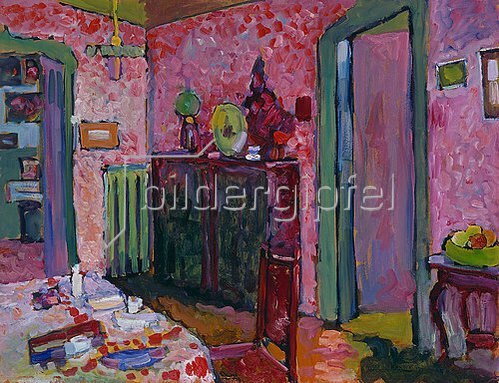 Wassily Kandinsky: Wohnzimmer in der Ainmillerstraße 36. 1909.