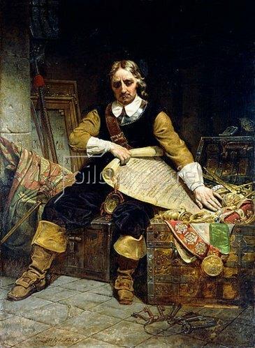 Emanuel Leutze: Oliver Cromwell. 1867
