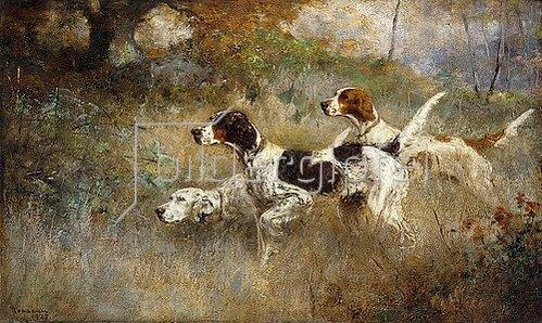 Percival Leonard Rosseau: Die drei Setter, Bob, Bill und Ginger. 1927