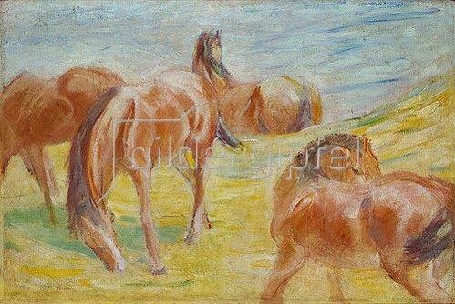Franz Marc: Weidende Pferde I. 1910.