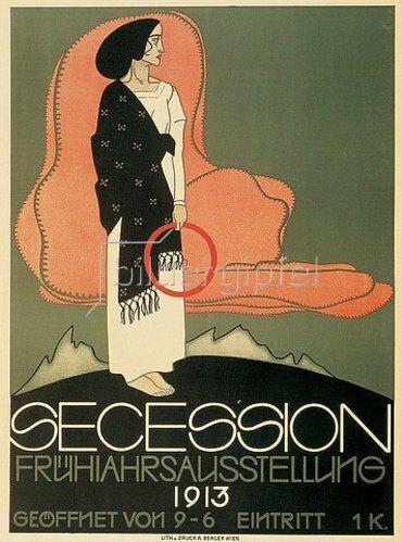 Franz Wacik: Plakat zur Frühjahrsausstellung der Wiener Secession. 1913.