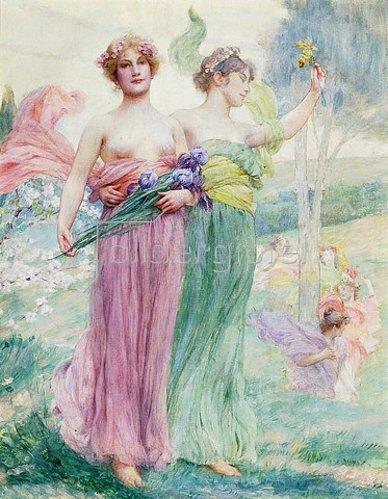 Henry Siddons Mowbray: Floréal (Der Blumenmonat). Um 1895-97