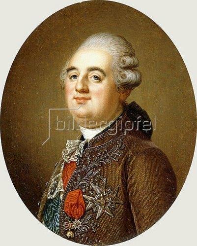 Adolf Ulrik Wertmuller: Porträt von Ludwig XVI, König von Frankreich. 1787 (siehe auch Bildnummer 43468)