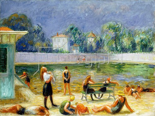 William James Glackens: Der Swimming Pool.