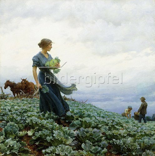 Charles Courtney Curran: Der Kohlacker. 1914