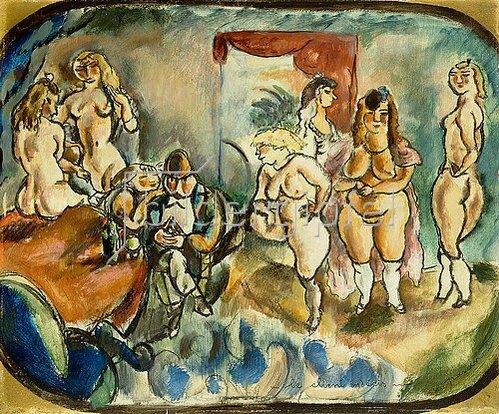 Jules Pascin: Der unentschlossene Kunde (Le Client Indecis). 1916