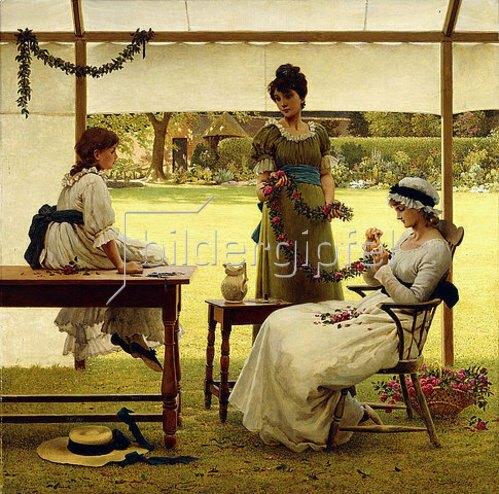 George Dunlop Leslie: Die Girlande.