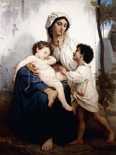 William Adolphe Bouguereau: Der Schlaf (Le Sommeil). 1864