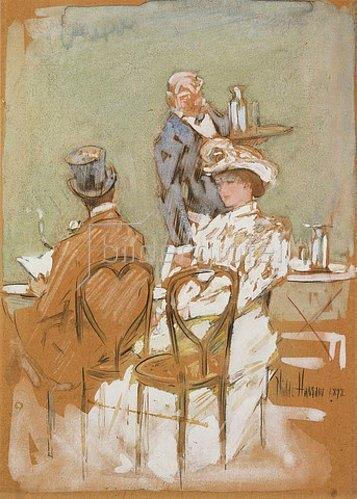 Frederick Childe Hassam: Straßencafé auf dem Grand Boulevard. 1898