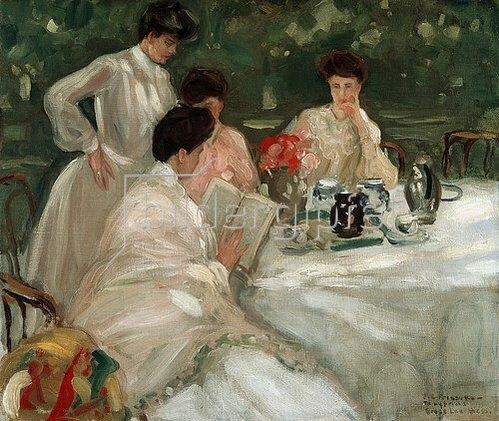Frederick Karl Frieseke: Tee im Garten.