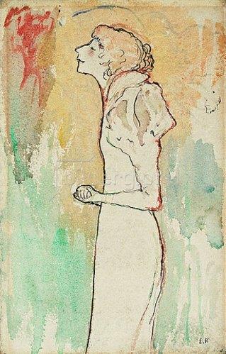 Edouard Vuillard: Sängerin (Chanteuse). Um 1891-92