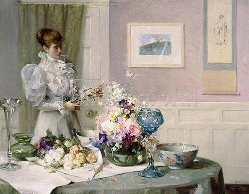 William Llewellyn: Beim Arrangieren der Blumen.