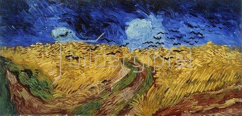 Vincent van Gogh: Weizenfeld mit Raben. 1890