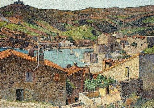 Henri Martin: Collioure mit Blick auf den Hafen.