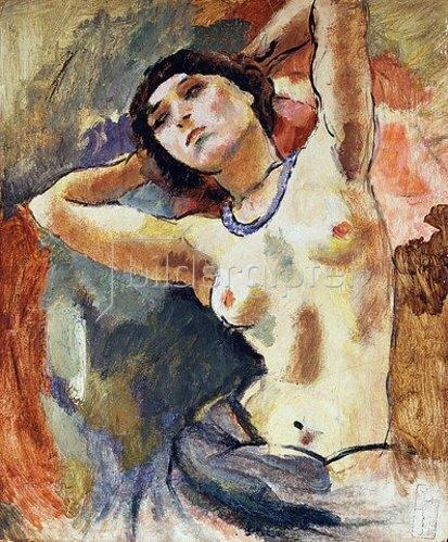Jules Pascin: Brünette mit blauer Halskette. 1922