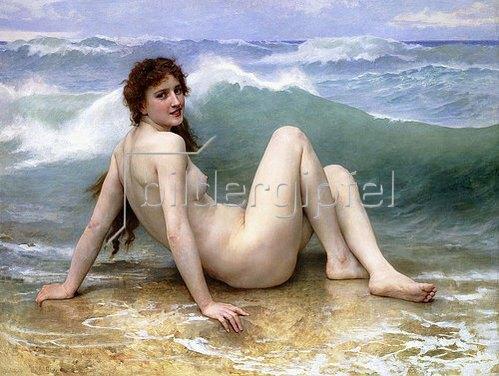 William Adolphe Bouguereau: Die Welle (La Vague). 1896