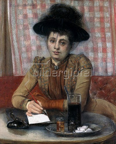 Pierre Carrier-Belleuse: Im Café. Um 1900-01