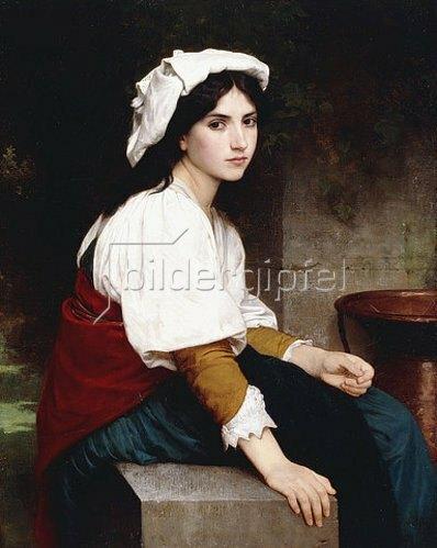 William Adolphe Bouguereau: Italienisches Mädchen an einem Brunnen (Italienne à la Fontaine). 1870