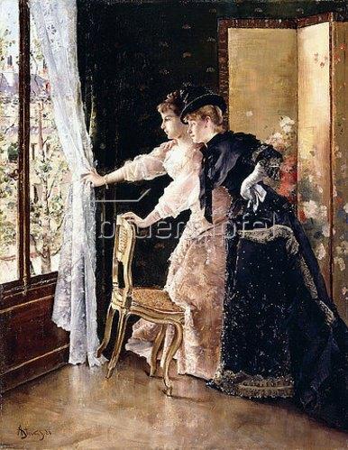 Alfred Stevens: Warten auf den Verlobten (L'Attente - Le Fiancé qui Passe). 1886