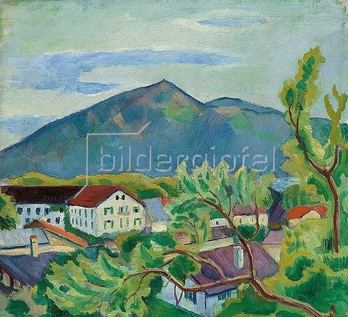 August Macke: Frühlingslandschaft in Tegernsee. 1910