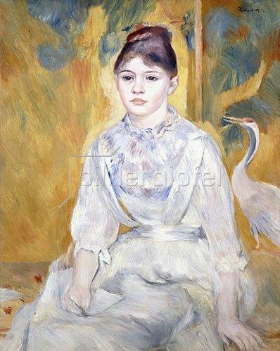 Auguste Renoir: Junges Mädchen mit einem Schwan (La Jeune Fille au Cygne). 1886