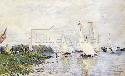 Claude Monet: Regatta in Argenteuil. 1874