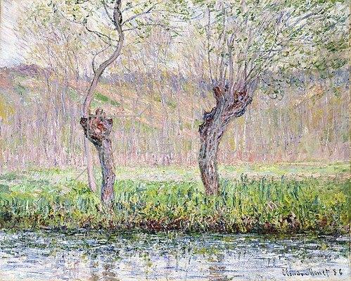 Claude Monet: Frühling, Weidenbäume (Printemps, saules). 1885-86