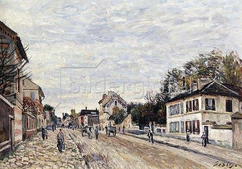 Alfred Sisley: Straßenszene in Marly (Scène de rue à Marly). 1876