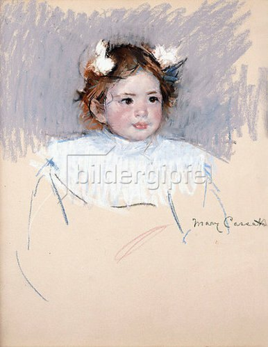 Mary Cassatt: Ellen mit Schleifen im Haar. 1899