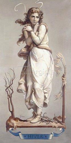 Joseph Félon: Die vier Jahreszeiten - Winter (Les Quatres Saisons - Hiver). 1873-84