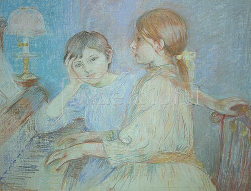 Berthe Morisot: Am Klavier. 1888.