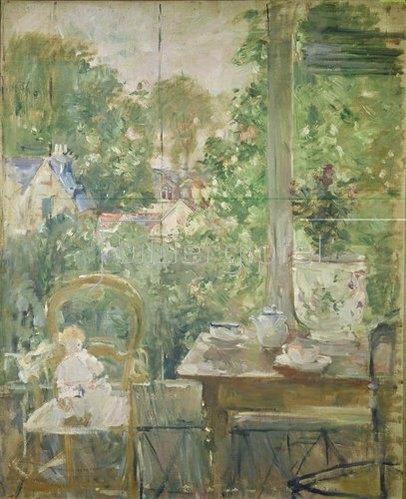 Berthe Morisot: Das Püppchen auf der Veranda. 1884