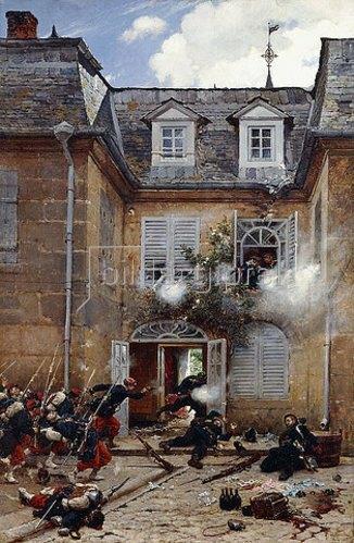 Alphonse Neuville: Überraschungsangriff, Metz. 1884