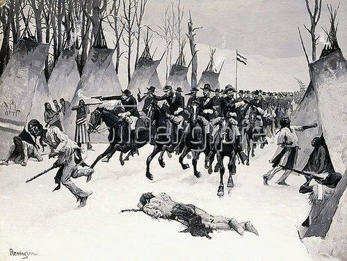 Frederic Remington: Angriff am Washita. 1887-88