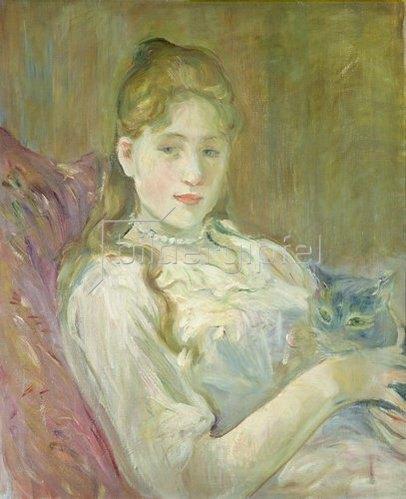 Berthe Morisot: Mädchen mit Katze. 1892