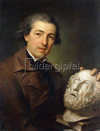 Anton Raphael Mengs: Porträt von Giuseppe Franchi mit einer Büste von Homer. Um 1771-73