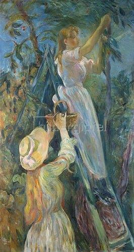 Berthe Morisot: Kirschenernte. 1891.