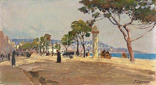 Fausto Zonaro: Promenade des Anglais, Nizza.