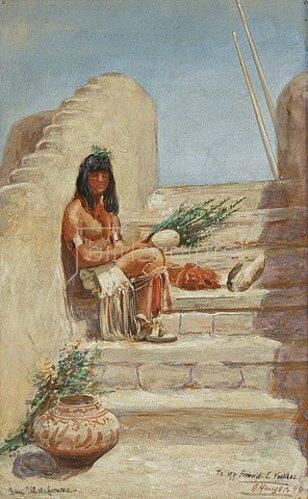 John Hanser: San Ildefonso Medizinmann. 1899