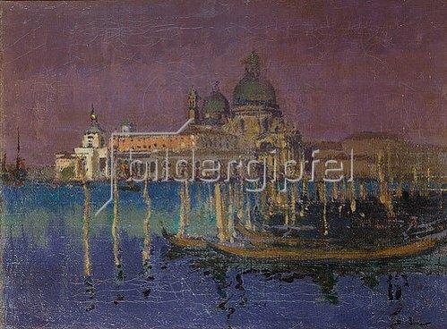 Walter Richard Sickert: Nachtstück: die Dogana und die Santa Maria della Salute, Venedig. 1896